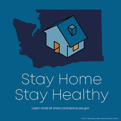 Stay Home, Stay Healthy Graphic