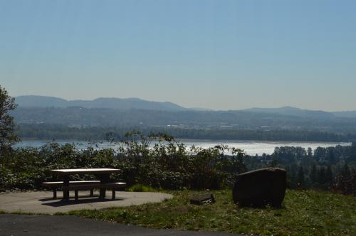 Picnic Table at an overlook point